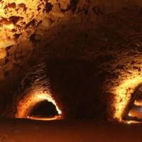 Mirador de Orellán. Las médulas. Iluminacion de las cuevas /